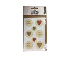 Traditional X-Mas Stickers Hearts