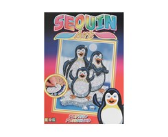 Sequin Art Pepino Penguins 25x34cm