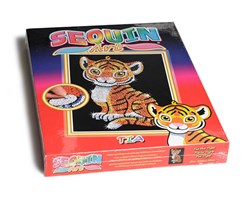 Sequin Art Tia Tiger 25x34cm